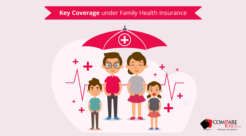 Key Coverage under Family Health Insurance- ComparePolicy.com